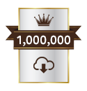 <p>Over 1 million downloads</p>